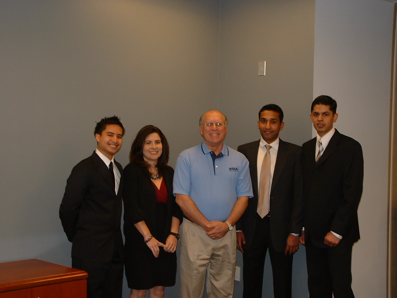 John Gonda with GMU Students